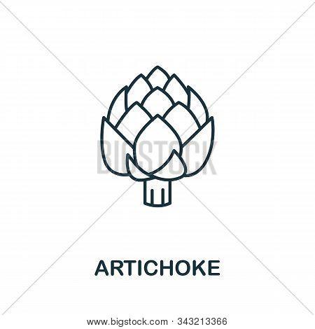 Artichoke Icon From Fruits Collection. Simple Line Element Artichoke Symbol For Templates, Web Desig