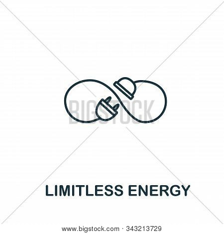 Limitless Energy Icon From Clean Energy Collection. Simple Line Element Limitless Energy Symbol For