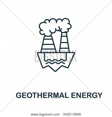 Geothermal Energy Icon From Clean Energy Collection. Simple Line Element Geothermal Energy Symbol Fo