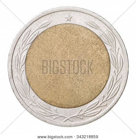 Combined Blank Coin Isolated On White Background Close-up