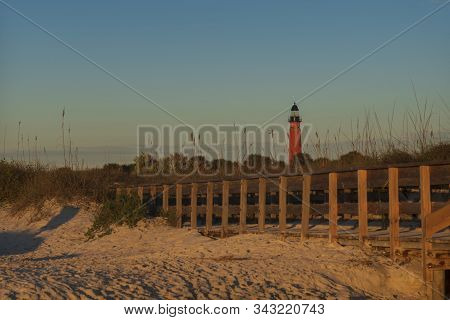 The Ponce De Leon Inlet Light, A Lighthouse And Museum Located Near Daytona Beach In Central Florida