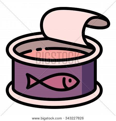 Tuna Fish Icon. Outline Tuna Fish Vector Icon For Web Design Isolated On White Background