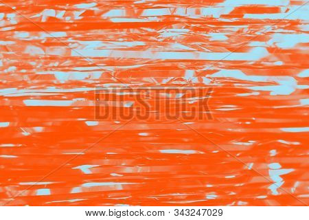 Bright Orange Lush Lava Background. Abstract Background With Stripes Of Light