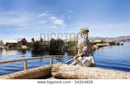 Lake Titicaca, Peru, Local Boat
