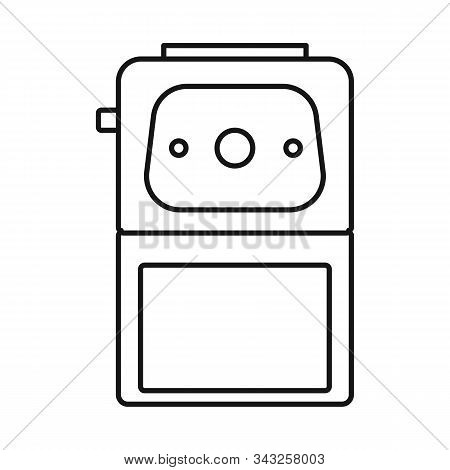 Vector Illustration Of Sharpener And Whittle Logo. Web Element Of Sharpener And Sharpen Stock Vector