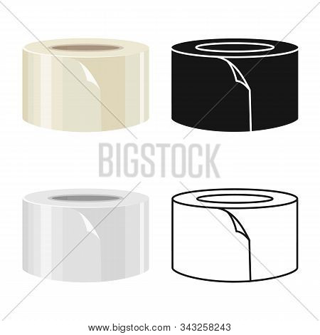 Vector Design Of Scotch And Tape Logo. Graphic Of Scotch And Roll Vector Icon For Stock.