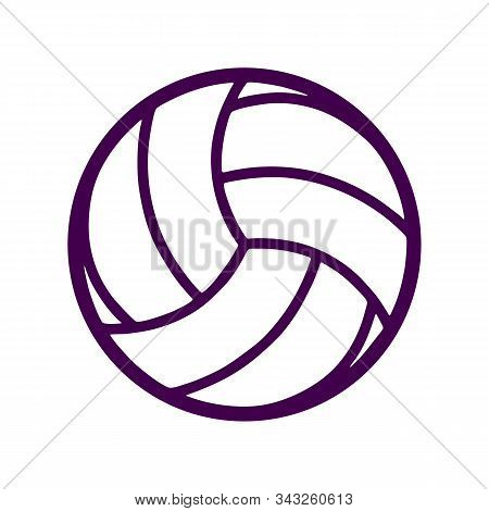 Volleyball Icon On White Background. Flat Style. Volleyball Icon For Your Web Site Design, Logo, App
