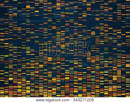 Genomic Visualization. Dna Genomes Sequencing Data Analysis. Digital Internet Technology, Bioinforma