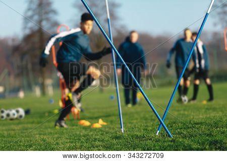 Football Soccer Training Session For Junior Level Athletes. Boys Football Training Session. Youth Pl