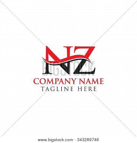 Abstract Letter Nz Logo Design Vector Template. Creative Swoosh Letter Nz Logo Design