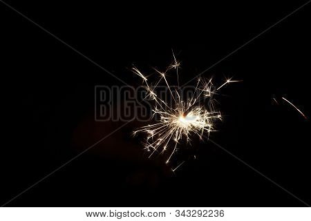 Firework Above The Town Of Nieuwerkerk Aan Den Ijssel During New Years Eve In The Netherlands