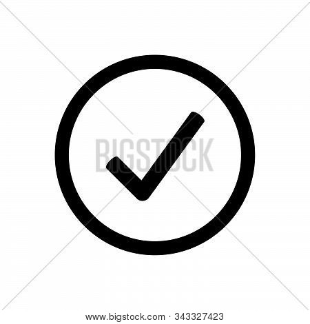 Check Mark Icon Isolated On White Background. Check Mark Icon In Trendy Design Style. Check Mark Vec