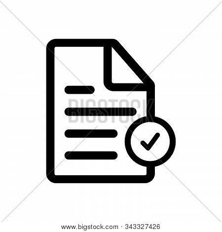 Checklist Icon Isolated On White Background. Checklist Icon In Trendy Design Style. Checklist Vector