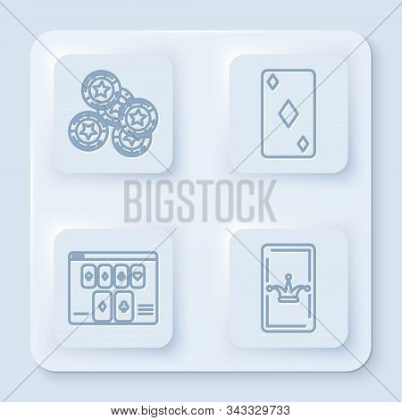 Set Line Casino Chips Vector Photo Free Trial Bigstock