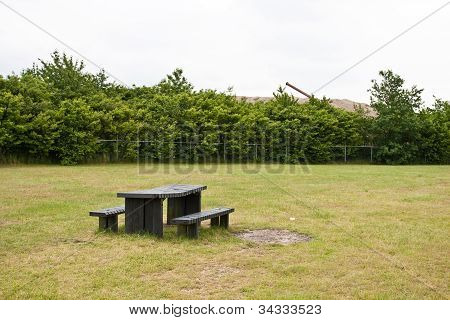 Misplaced bench