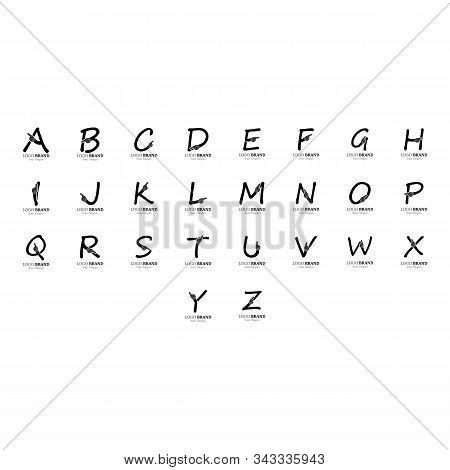 Alphabet With Hand Logo Creative Concept Template Design