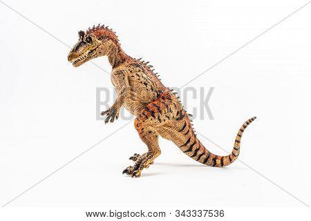 Cryolophosaurus  , Dinosaur On White Background