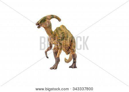 Parasaurolophus Dinosaur On White Background