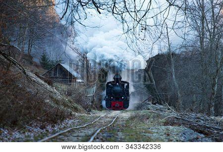 Mocanita, the steam train from Maramures, Romania.