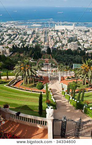 The Bahai Gardens In Haifa Israel