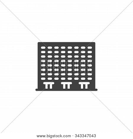 Townhouse Building Vector Icon. Filled Flat Sign For Mobile Concept And Web Design. Condo Building G