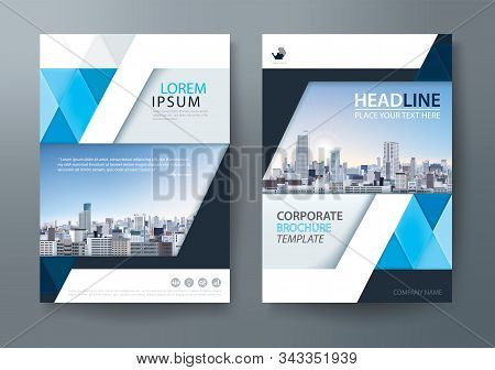 Blue Annual Report Brochure Flyer Design Template, Leaflet Cover Presentation, Book Cover, Layout In