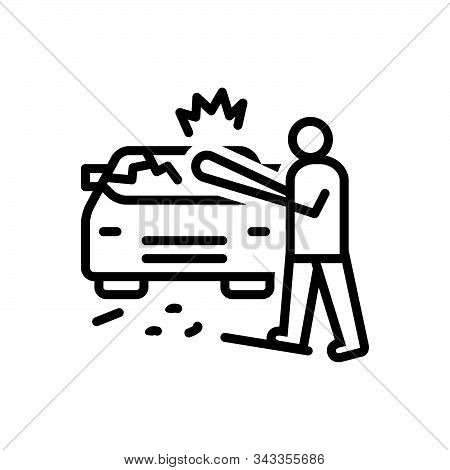 Black Line Icon For Auto-destruction Auto Destruction Annihilation Ruin Annihilation Devastation