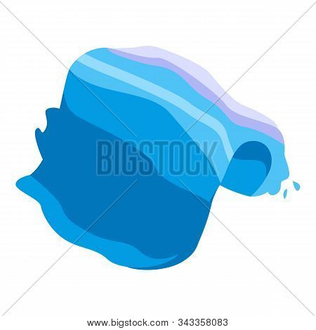 Tsunami Big Wave Icon. Isometric Of Tsunami Big Wave Vector Icon For Web Design Isolated On White Ba