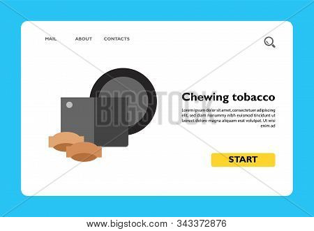 Icon Of Chewing Tobacco. Smokeless Tobacco, Powder, Container. Smoking Concept. Can Be Used For Topi