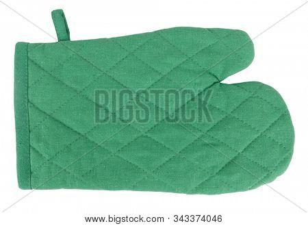 Oven glove green mitt classic