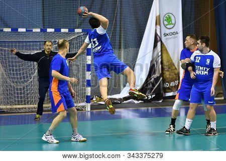 Orenburg, Russia - 11-13 February 2018 Year: Boys Play In Handball