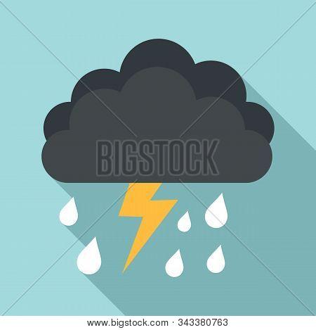 Season Thunderstorm Icon. Flat Illustration Of Season Thunderstorm Vector Icon For Web Design