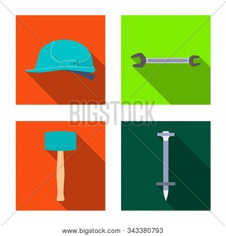 Vector Illustration Of Renovation And Household Icon. Collection Of Renovation And Handicraft Vector