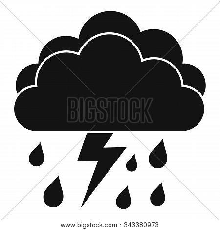 Season Thunderstorm Icon. Simple Illustration Of Season Thunderstorm Vector Icon For Web Design Isol