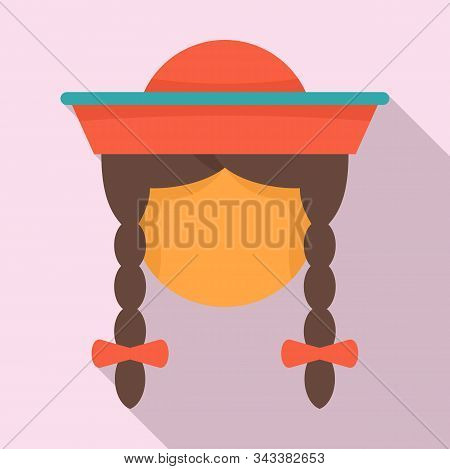 Peru Woman Icon. Flat Illustration Of Peru Woman Vector Icon For Web Design