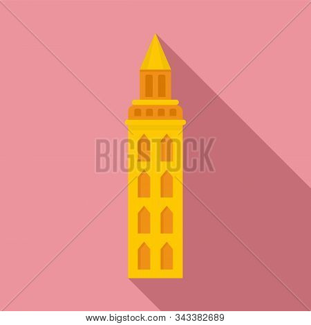 Peru City Tower Icon. Flat Illustration Of Peru City Tower Vector Icon For Web Design