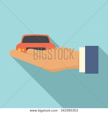 Car Leasing Icon. Flat Illustration Of Car Leasing Vector Icon For Web Design
