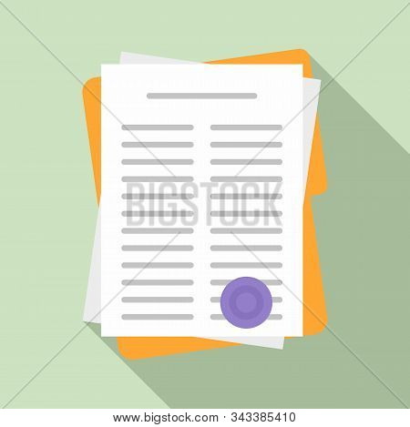 Leasing Papers Icon. Flat Illustration Of Leasing Papers Vector Icon For Web Design
