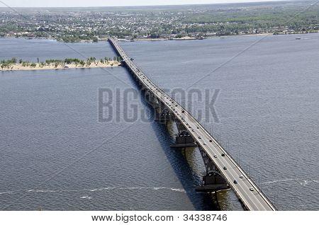 Bridge Across The Volga River
