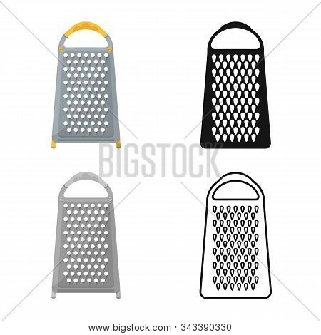 Vector Illustration Of Grater And Flatware Symbol. Graphic Of Grater And Instrument Stock Vector Ill