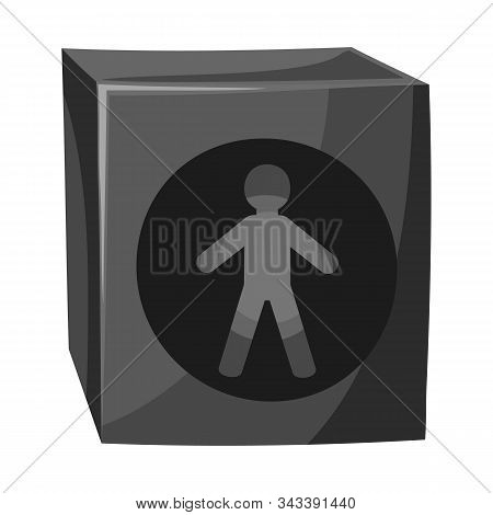 Isolated Object Of Stoplight And Light Icon. Graphic Of Stoplight And Signal Vector Icon For Stock.