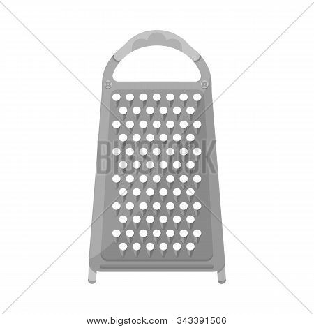 Vector Design Of Grater And Flatware Logo. Graphic Of Grater And Instrument Stock Symbol For Web.