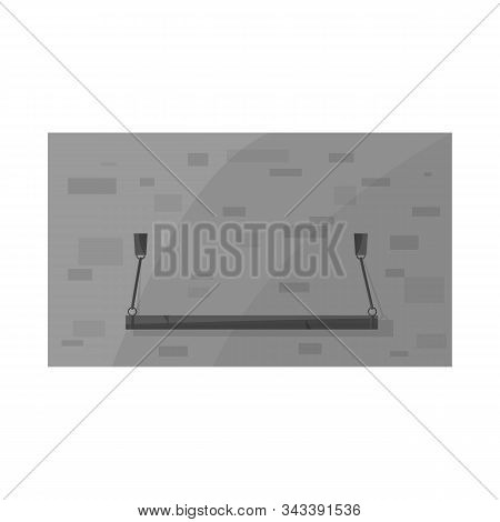 Vector Design Of Plank-bed And Bed Icon. Web Element Of Plank-bed And Bunk Stock Vector Illustration