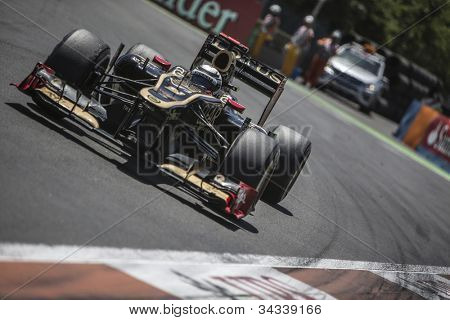 VALENCIA, SPAIN - JUNE 24: Kimi Raikkonen in the Formula 1 Grand Prix of Europe, Valencia Street Circuit. Spain on June 24, 2012