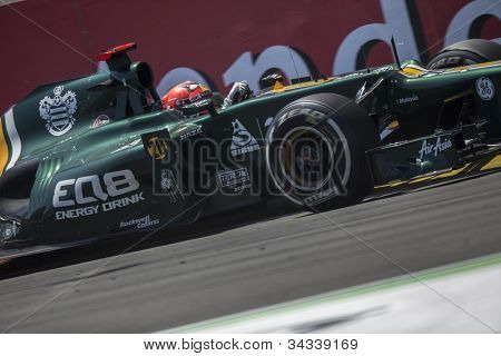 VALENCIA, SPAIN - JUNE 24: Heikki Kovalainen in the Formula 1 Grand Prix of Europe, Valencia Street Circuit. Spain on June 24, 2012