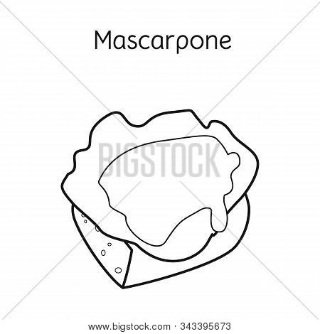 Isolated Object Of Mascarpone And Cheese Icon. Web Element Of Mascarpone And Meal Vector Icon For St