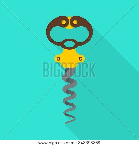 Vector Illustration Of Corkscrew-spin And Steel Icon. Web Element Of Corkscrew-spin And Open Stock S