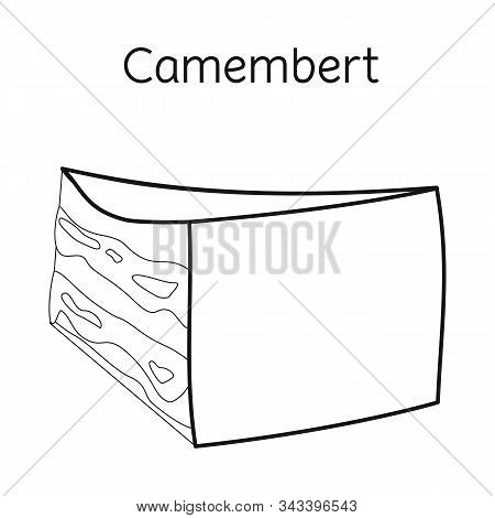 Vector Illustration Of Cheese And Maasdam Symbol. Graphic Of Cheese And Piece Stock Symbol For Web.