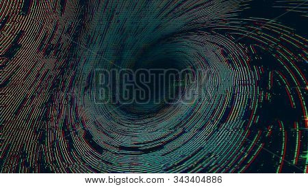 Glitch Effect Abstract Background. Distortion, Seamless Texture, Random Horizontal Black And White L