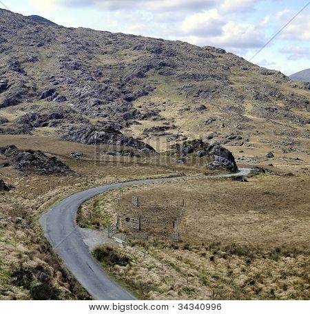 Landscape Of Moll's Gap In Ireland